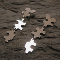 sterling silver puzzle earrings jewelry