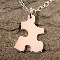 sterling silver puzzle pendant necklace jewelry